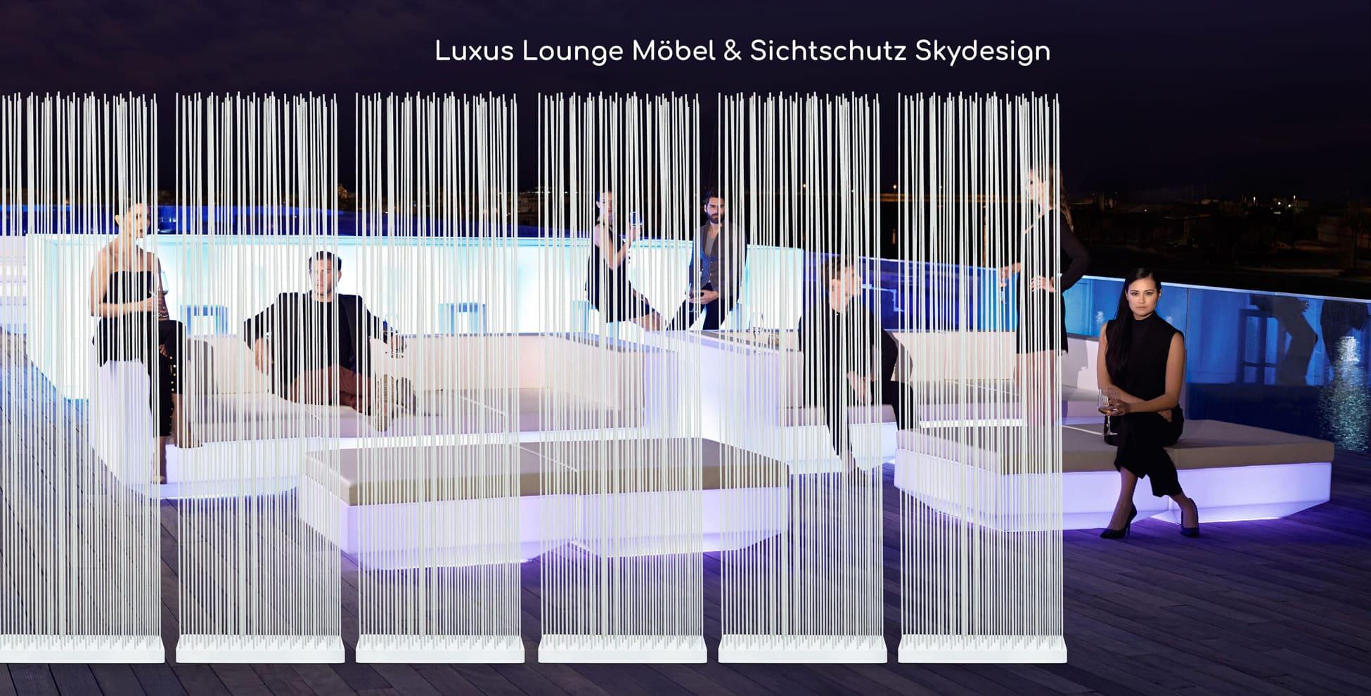Luxus Lounge Möbel und Sichtschutz Skydesign für die Terrasse
