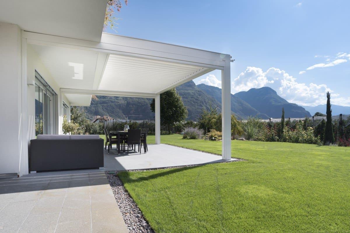 Lamellendach AUF ZU Terrassendach - Designer Pergola mit verstellbaren Lamellen