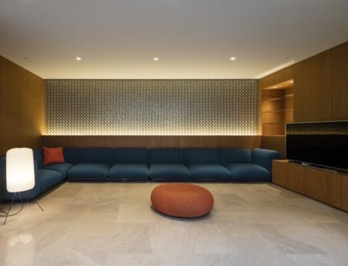 Ritmonio Diametro35 vergoldene Oberfläche für das Three Gardens House (Kuwait)