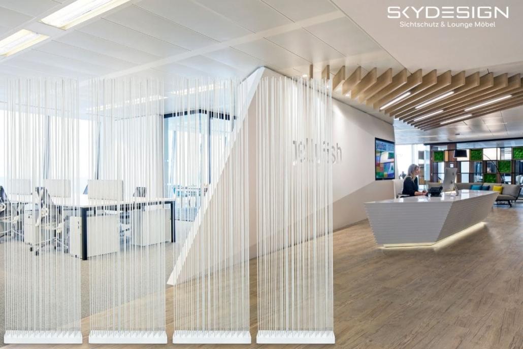 arztpraxis ausstattung empfang 1030x688 - Wartezimmer Einrichtung: Die perfekte Ordination mit dem skydesign Raumteiler