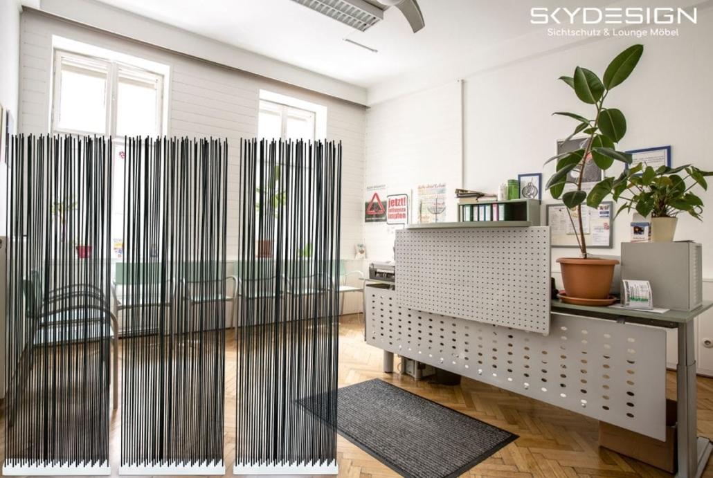 praxis wartezimmer einrichtung 1030x691 - Wartezimmer Einrichtung: Die perfekte Ordination mit dem skydesign Raumteiler