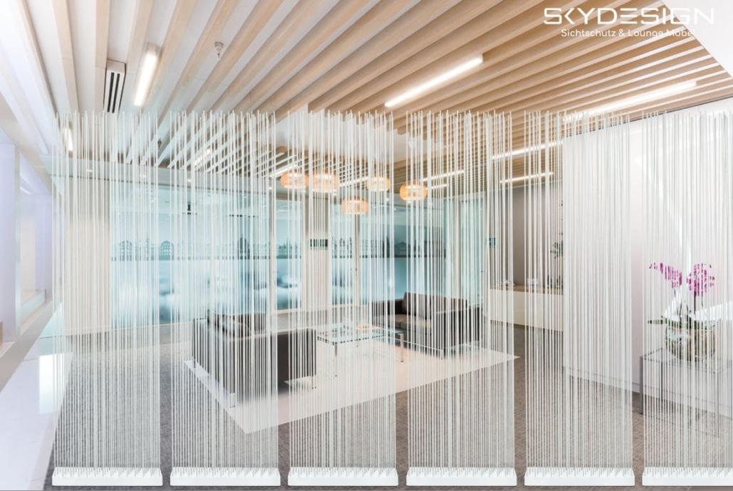 praxiseinrichtungen empfang 1030x690 - Wartezimmer Einrichtung: Die perfekte Ordination mit dem skydesign Raumteiler
