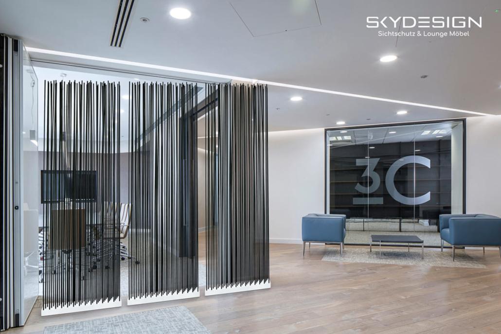 praxiseinrichtungen empfang sichtschutz 1030x687 - Wartezimmer Einrichtung: Die perfekte Ordination mit dem skydesign Raumteiler