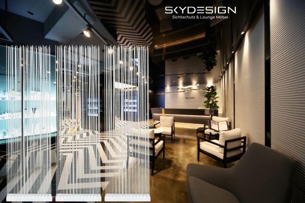 praxiseinrichtungen möbel sichtschutz raumteiler 1030x686 - Wartezimmer Einrichtung: Die perfekte Ordination mit dem skydesign Raumteiler