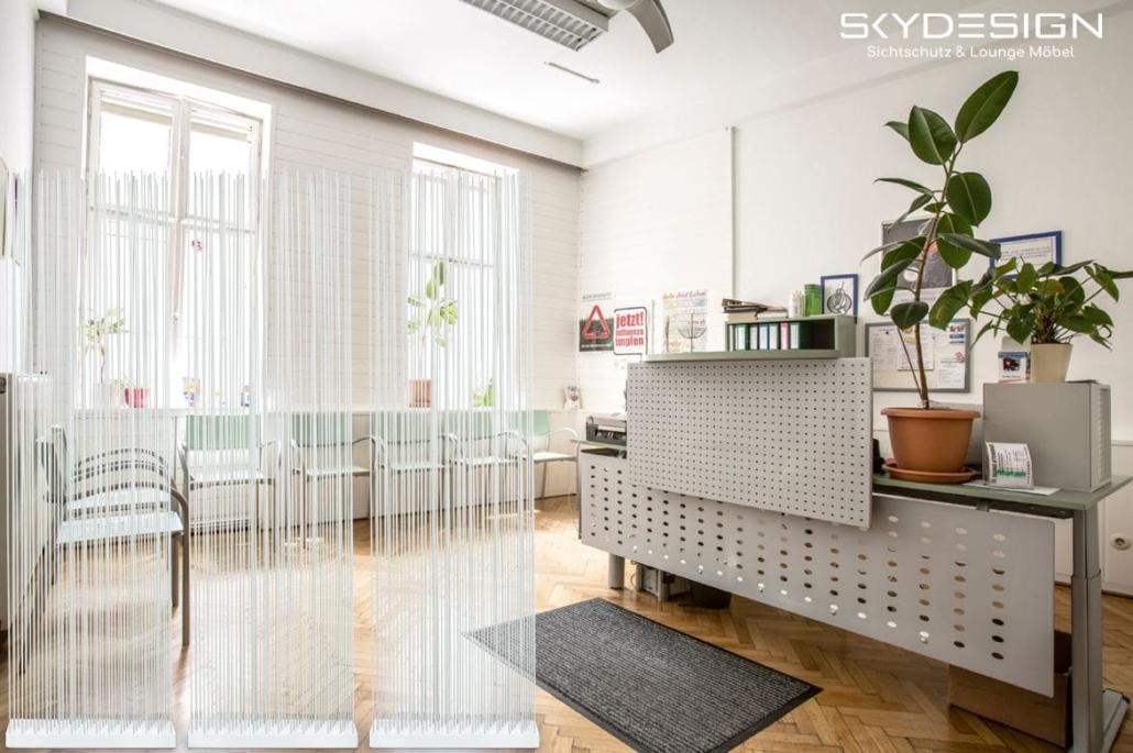 praxismöbel wartezimmer 1030x685 - Wartezimmer Einrichtung: Die perfekte Ordination mit dem skydesign Raumteiler