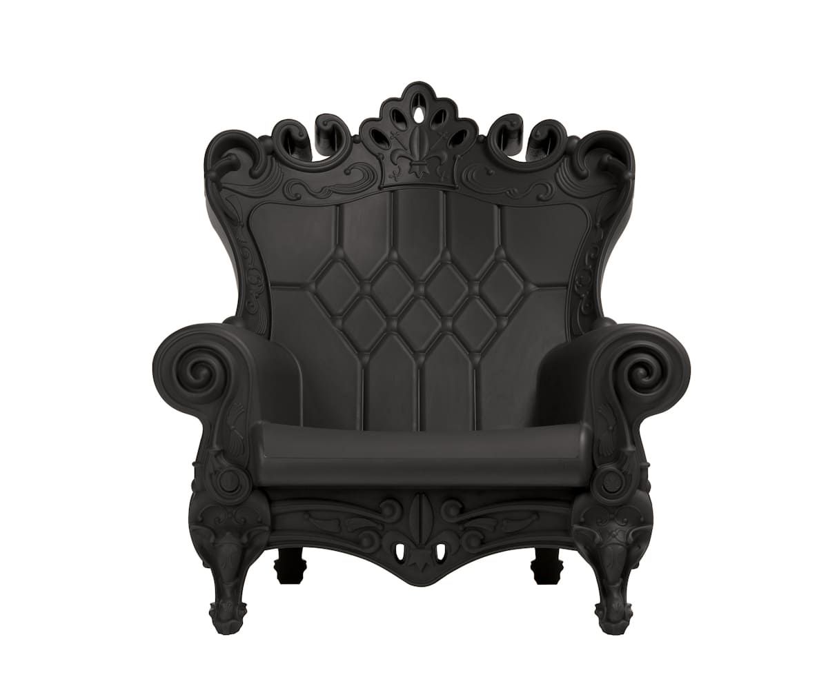 Barock Sessel Kunststoff Schwarz Terrasse - Barock Stuhl aus Kunststoff in verschieden Farben | Design of Love