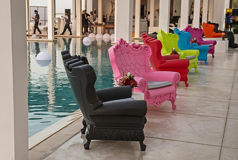 Bunte Grosse Barock Sessel Kunststoff - Barock Stuhl aus Kunststoff in verschieden Farben | Design of Love