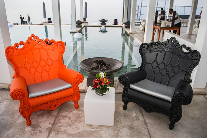 Hoteleinrichtung Barock Sessel Kunststoff - Barock Stuhl aus Kunststoff in verschieden Farben | Design of Love