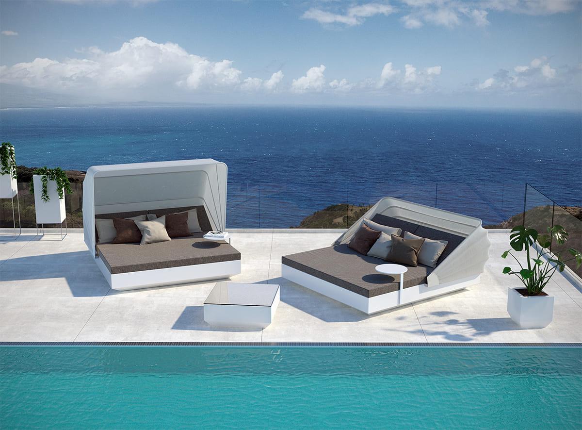 Poolmönelliege Luxus Modern Exklusiv - Moderne Loungemöbel Outdoor