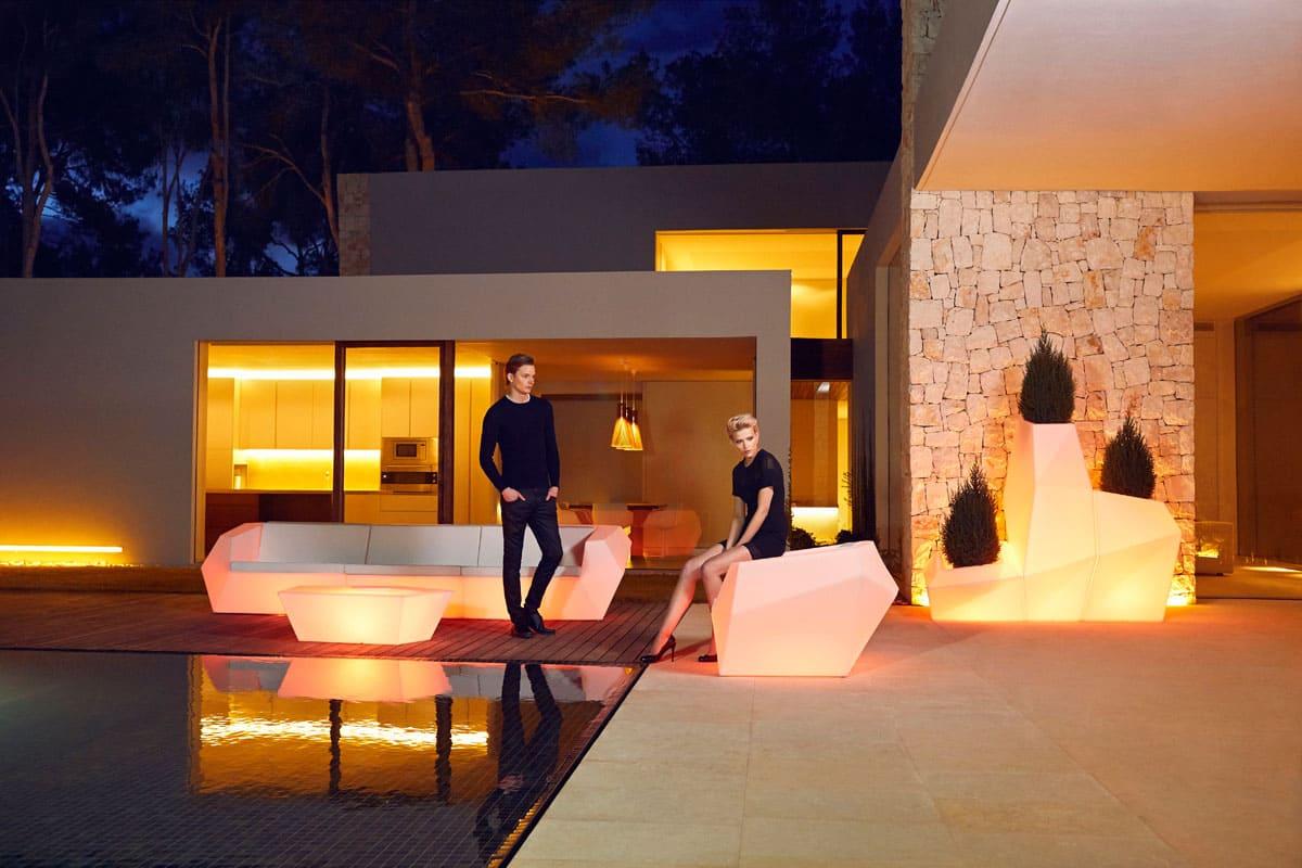 Poolmoebel Beleuchtet Modern - Terrassenmöbel Wetterfest