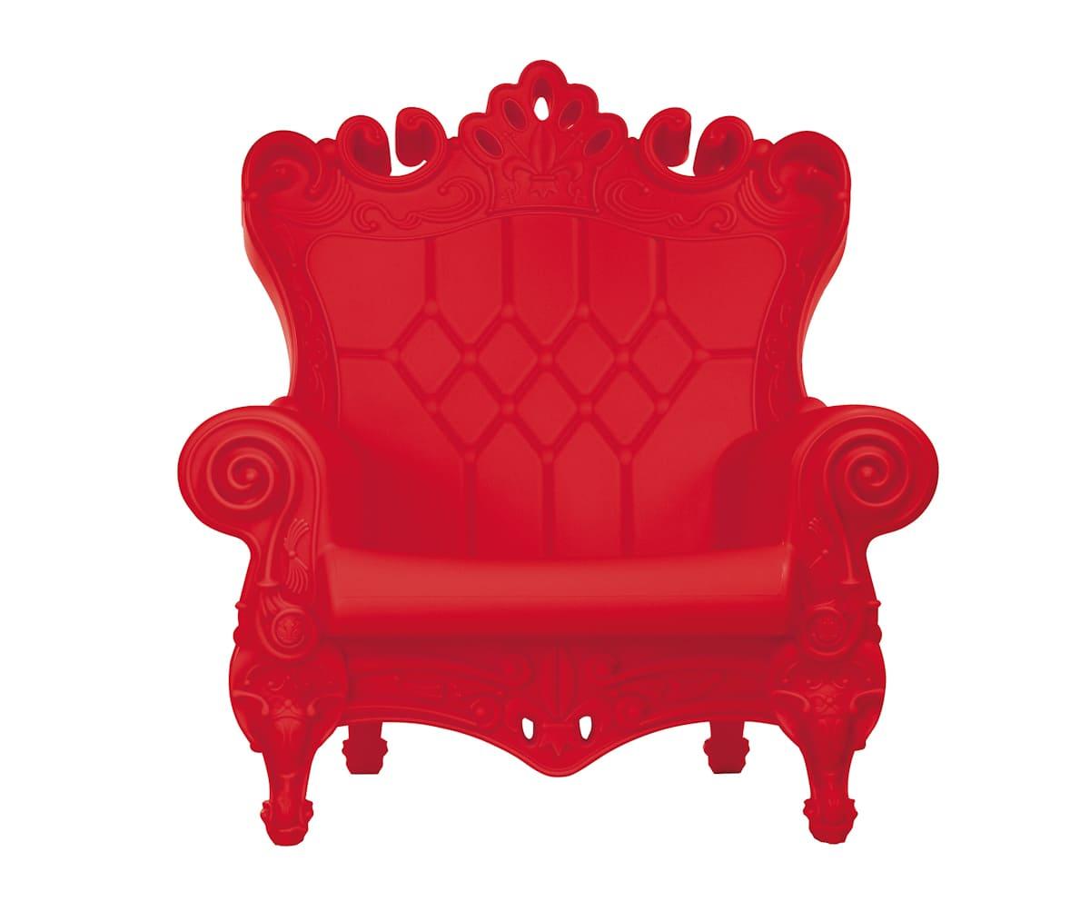 Rote Barock Sessel aus Kunststoff - Barock Stuhl aus Kunststoff in verschieden Farben | Design of Love