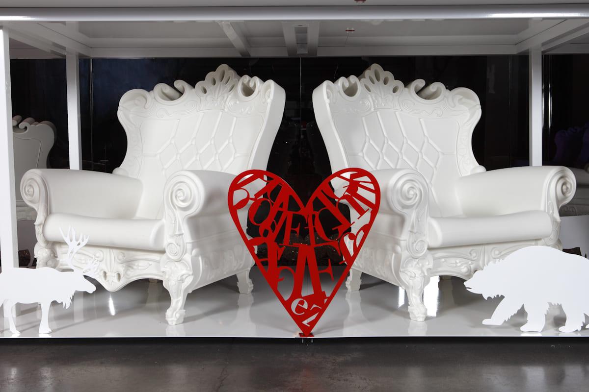 Weiss Herz Barock Sessel Kunststoff - Barock Stuhl aus Kunststoff in verschieden Farben | Design of Love
