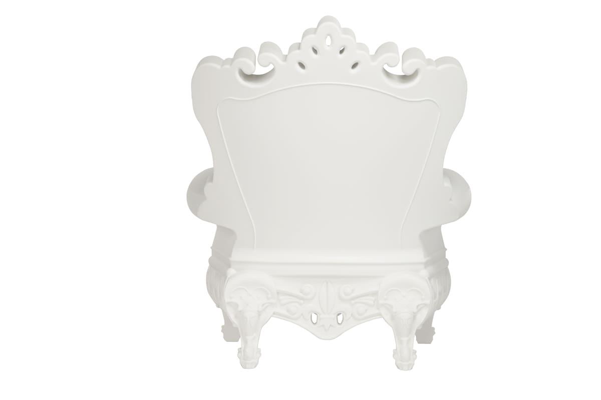 Weisse Barock Sessel Kunststoff Wasserfest - Barock Stuhl aus Kunststoff in verschieden Farben | Design of Love