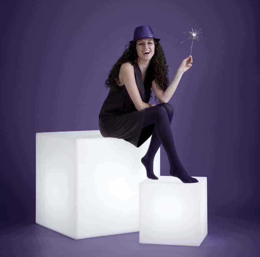cube würfel sitzwürfel kunststoff outdoor - Cube Würfel beleuchtet