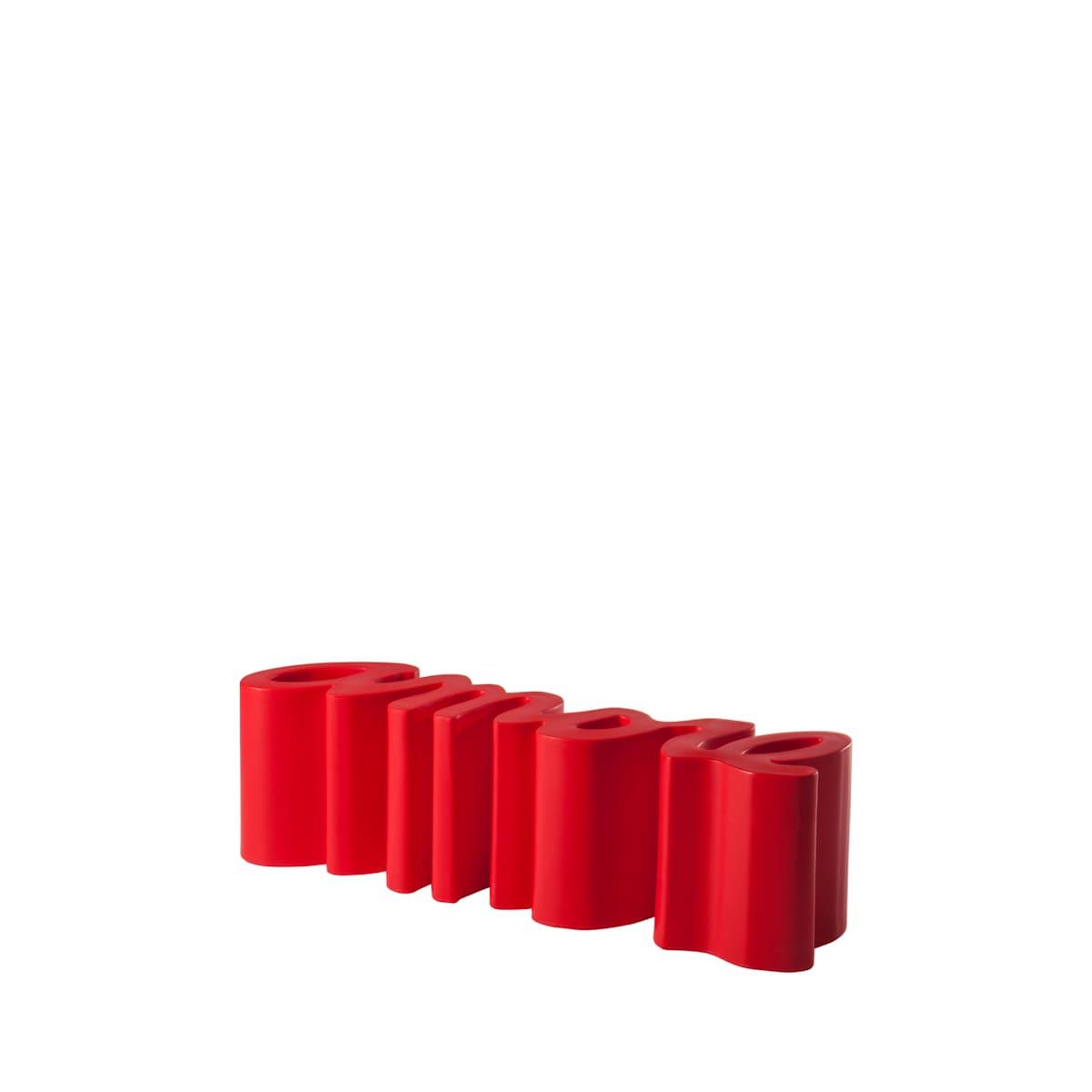 gartenbank modern rote sitzbank garten terrasse - Ausgefallene Designer Bank für den Garten