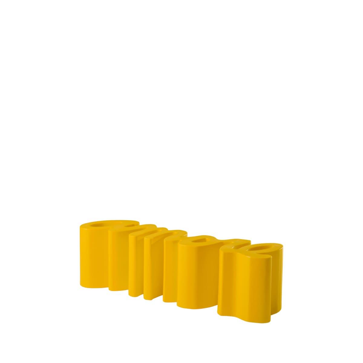 gartenbank modern sitzbank garten gelb - Ausgefallene Designer Bank für den Garten