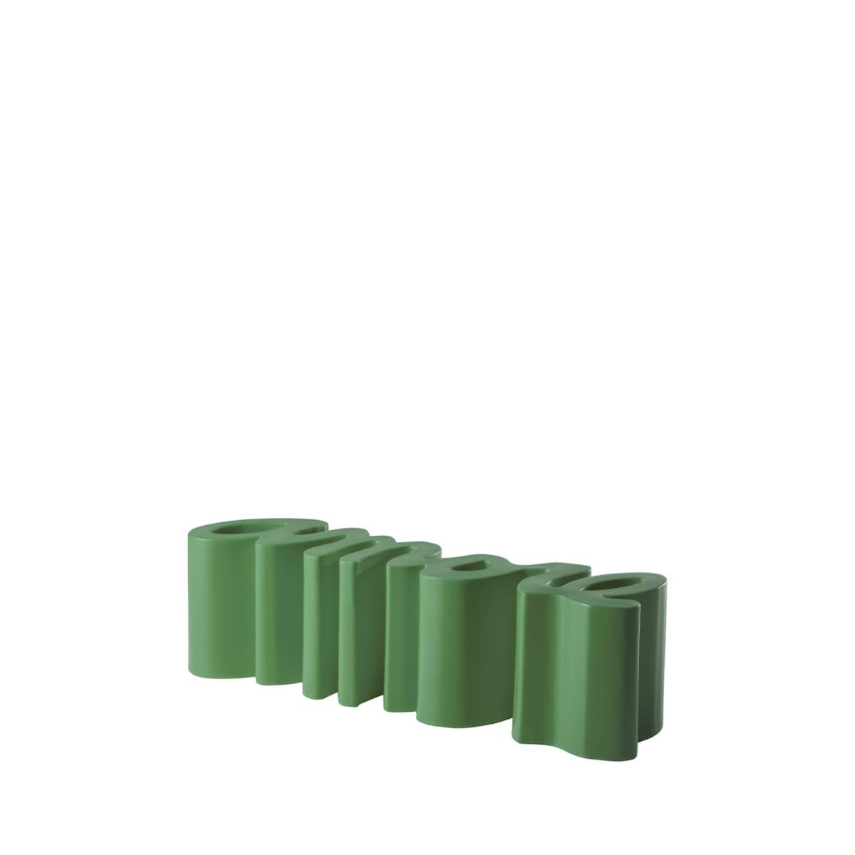 gartenbank modern sitzbank garten grün petrolium - Ausgefallene Designer Bank für den Garten