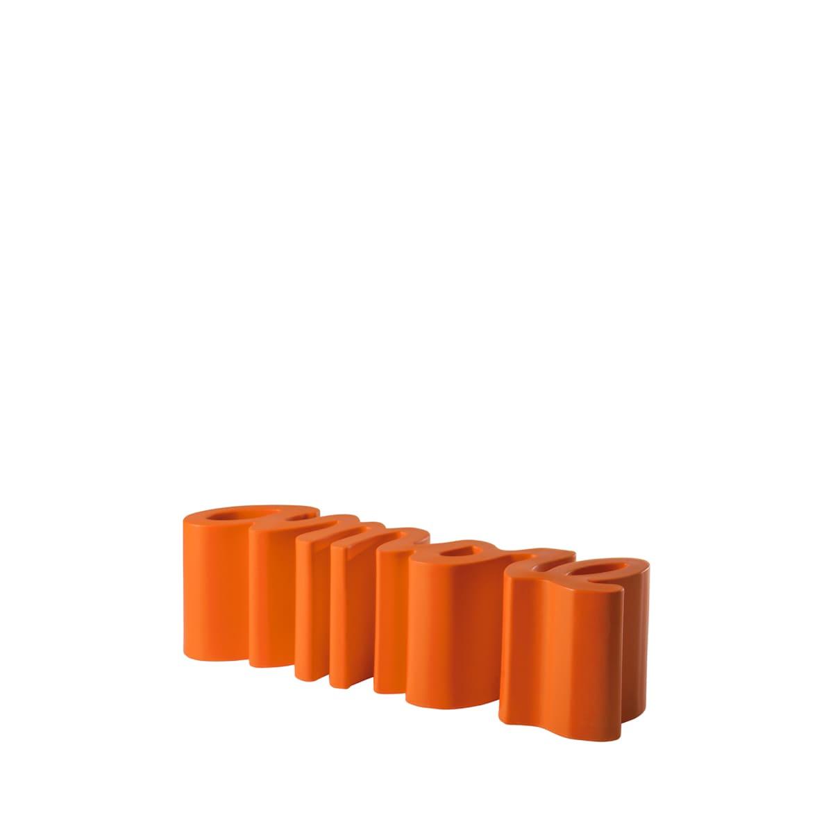 gartenbank modern sitzbank garten orange - Ausgefallene Designer Bank für den Garten