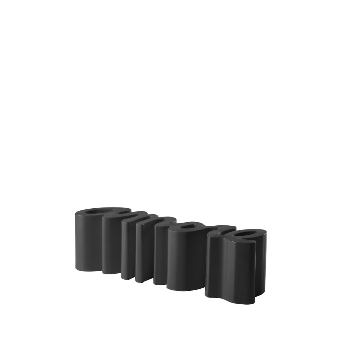 gartenbank modern sitzbank garten schwarz - Ausgefallene Designer Bank für den Garten