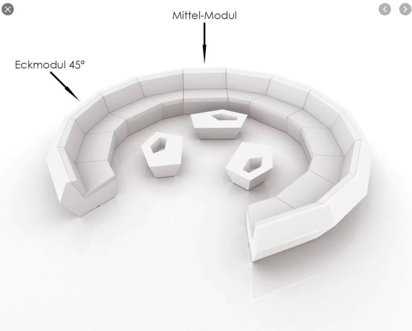 runde sofa poolmöbel weiss groß - Moderne Loungemöbel Outdoor