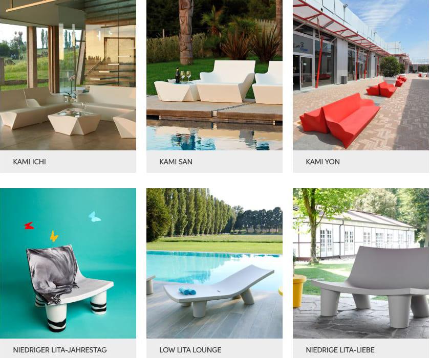 sitzmöbel terrasse outdoor möbel beleuchtet modern - Terrassenmöbel Wetterfest
