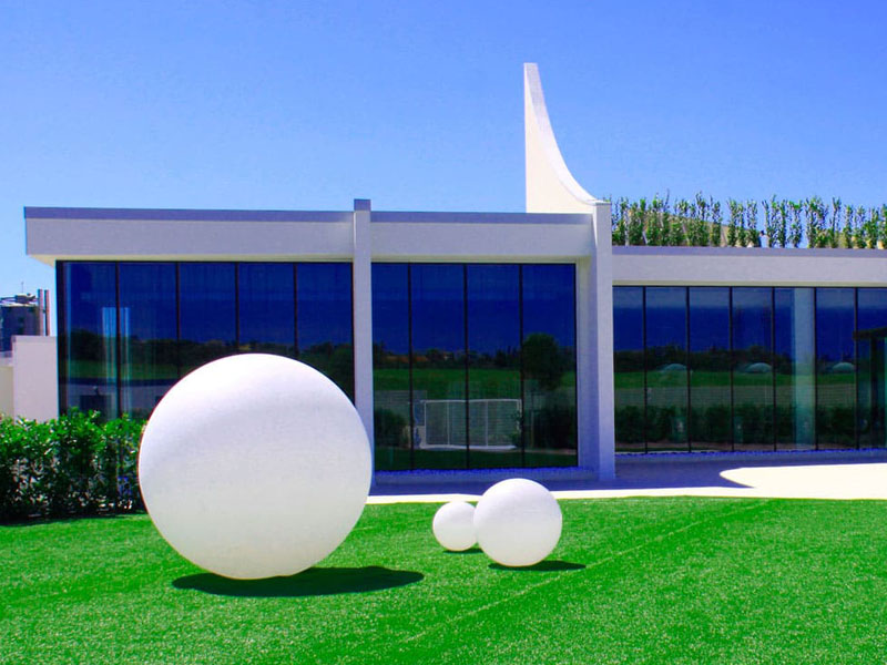 slide globo Leuchtkugeln Garten 80cm weiss - Terrassenmöbel Wetterfest