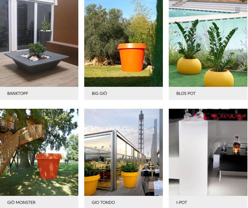 vasen blumentröge outdoor kunststoff modern - Terrassenmöbel Wetterfest