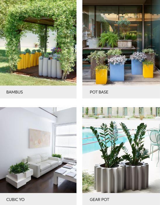 vasen blumentröge outdoor kunststoff - Terrassenmöbel Wetterfest