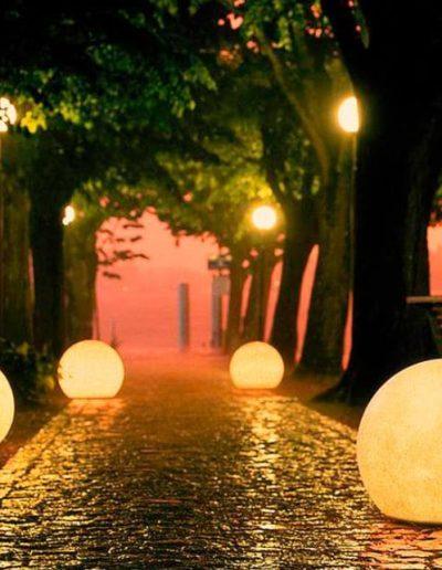 3er set leuchtkugeln garten 400x516 - Kugelleuchten Garten