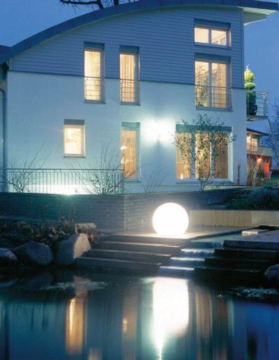 ausgefallene gartenbeleuchtung hausbeleuchtung 400x516 - Kugelleuchten Garten