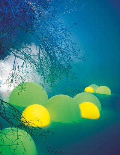 leuchtende kugeln outdoor 400x516 - Kugelleuchten Garten