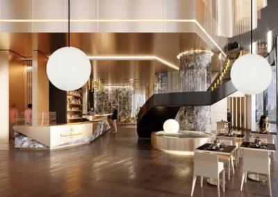 moderne beleuchtung kugel weiss empfang hotel 1 400x284 - Leuchtkugeln