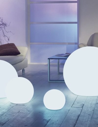 moderne beleuchtung wohnzimmer kugeln weiss 400x516 - Kugelleuchten Garten